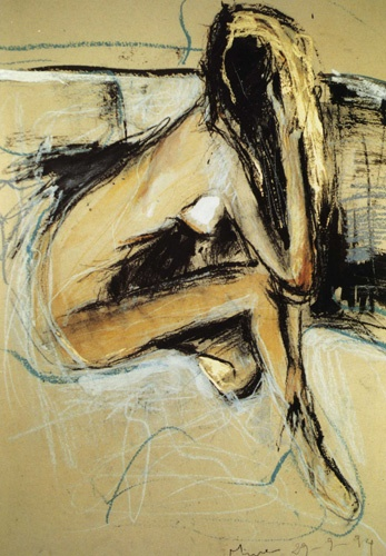 "Mina Papathedorou Valyraki: ""Nude on gold"", 1996"