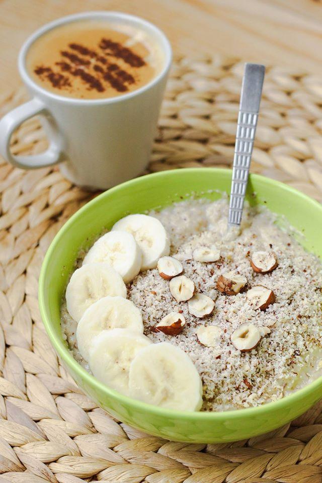 Raňajková ovsená kaša s lieskovými orieškami | SlimCake.sk