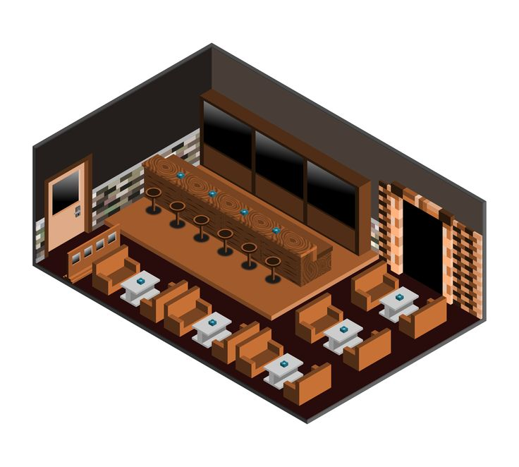Old Bar. Isometric Projection.