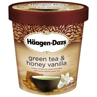 Haagen Daz green tea ice cream   Haagen-Dazs Green Tea & Honey Vanilla   LUUUX