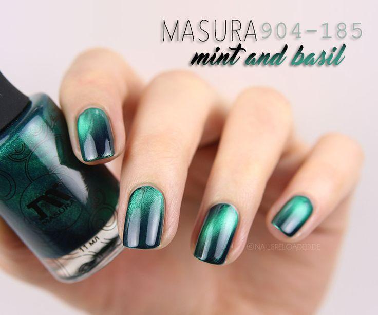 magnetischer Nagellack: Masura 904-185 mint and basil