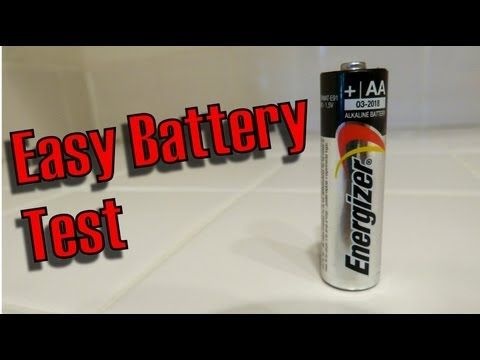How To Test a AA battery, Easiest Way For Any Battery Fast, Easy! - YouTube