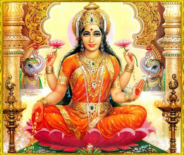 Déesse de la prospérité (pieces d'or) Lakshmi.