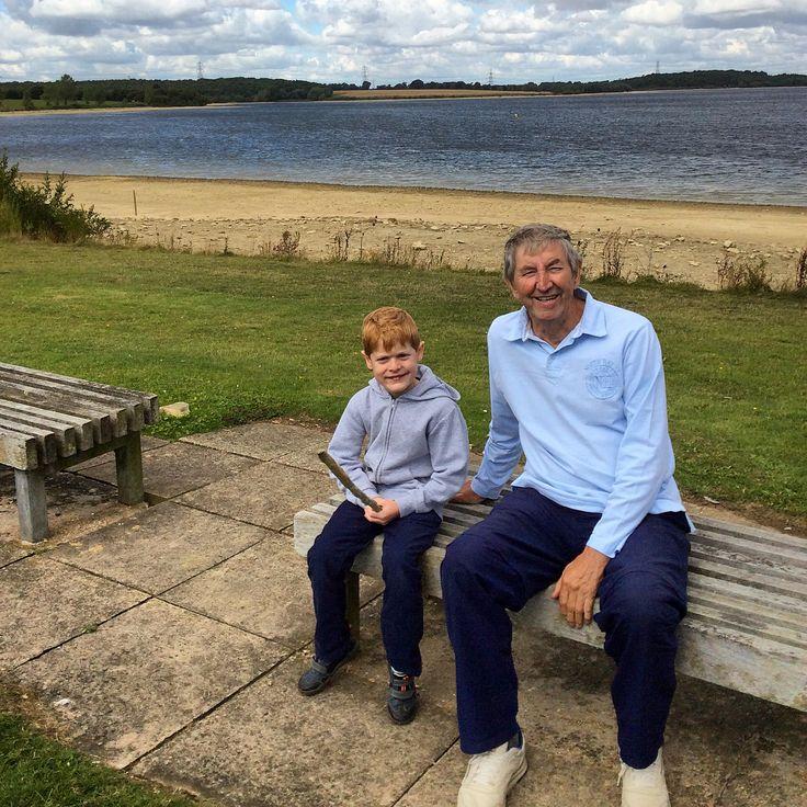 Ben and Me at Grafham Water.