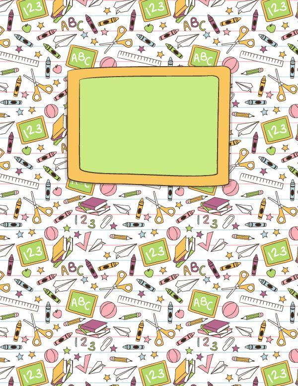 Free printable school doodle binder cover template. Download the cover in JPG or PDF format at http://bindercovers.net/download/school-doodle-binder-cover/