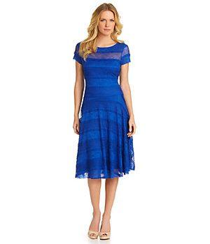 Sangria Lace Drop-Waist Dress | Dillard's Mobile