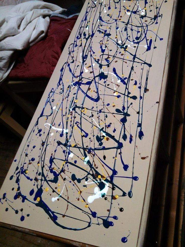 Update an Old Dresser with Vibrant Splatter