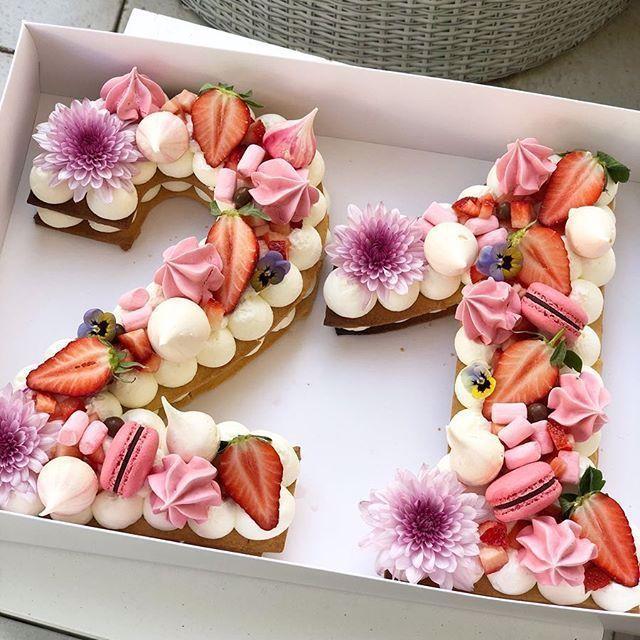 Geburtstagskuchen Mit Formen Aus Zahlen Und Buchstaben Buchstaben Formen Geburtstagskuchen Zahlen In 2020 21st Birthday Cakes Number Birthday Cakes 21st Cake