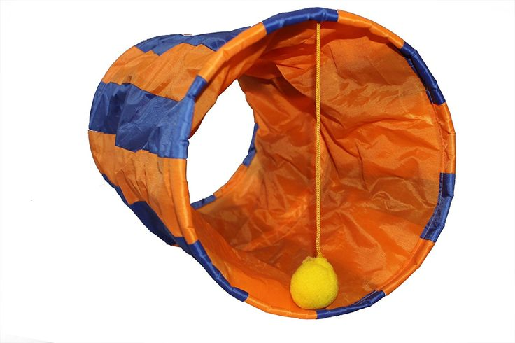 Cat Tunnel - Best Interactive Cat Toy for Your Large or Small Cat, cat or Small Dog. It's a Cool Cat Toy with a Length Adjustable String on the Toy Ball ** Quickly view this special cat product, click the image : Cat toys
