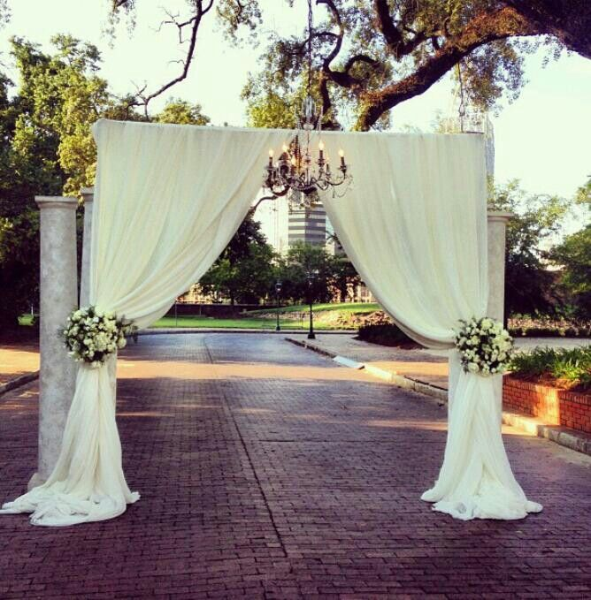 Diy Wall Draping For Weddings That Meet Interesting Decors: Brick Street Wedding Backdrop, Mobile, Al