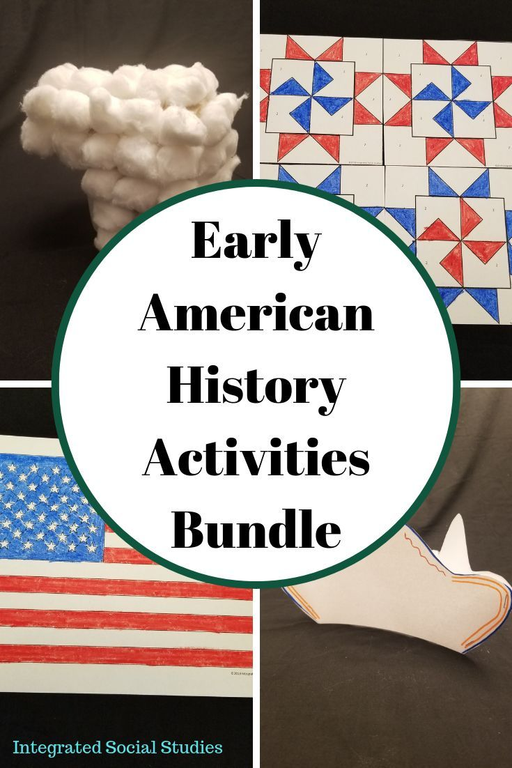 Early American History Activities Bundle History Activities