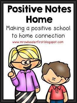 "Positive Notes Home: This is a pack of 12 different ""Good Notes"" that can be used to encourage school to home communication. Simply print a stack of each. File as you choose. Send home when needed!"