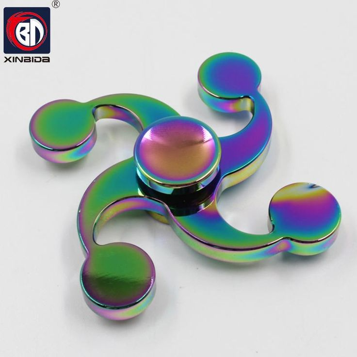 BD, Fingertip Gyro Decompression,Fidget spinner,Hand Spinner metal,New four leaves EDC Tool,Anxiety Stress Relief,Toys
