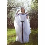 White Swan Medieval Wedding Dress