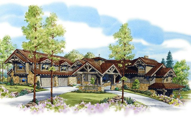 Deer Creek Lodge   SL-1791 7197 Sq. Ft, 6 Bedroom(s), 7 Bath(s)   Front Color Rendering     original.jpg (640×428)