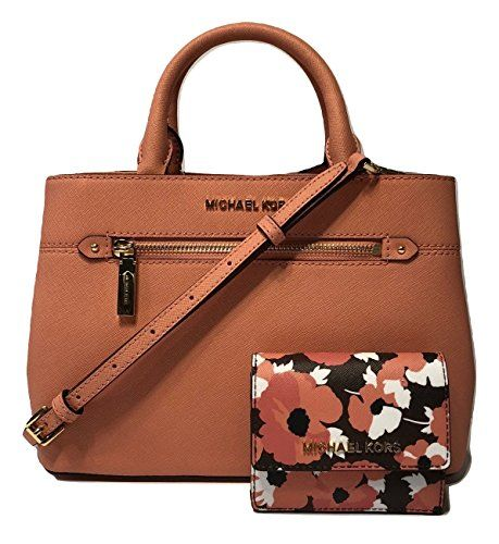 b150974a88 MICHAEL Michael Kors Hailee XS Satchel bundled with Jet Set Travel Card  Case ID Key Holder