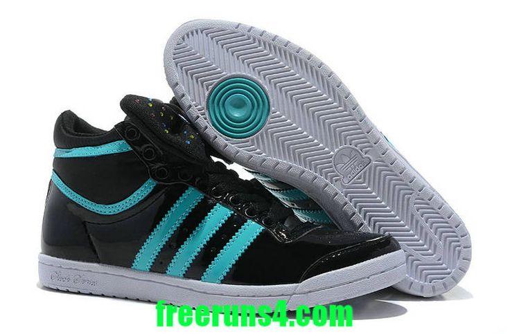 Adidas Originals Top Ten Hi Sleek Bowtie Patent Black New Green G61360
