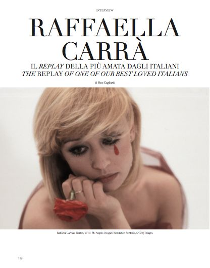 Interview to Raffaella Carrà. The replay of one of our best loved italians. #RaffaellaCarrà