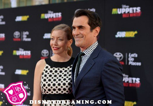 "Ty Burrell and Holly Burrell attend the ""Muppets Most Wanted"" movie premiere!"