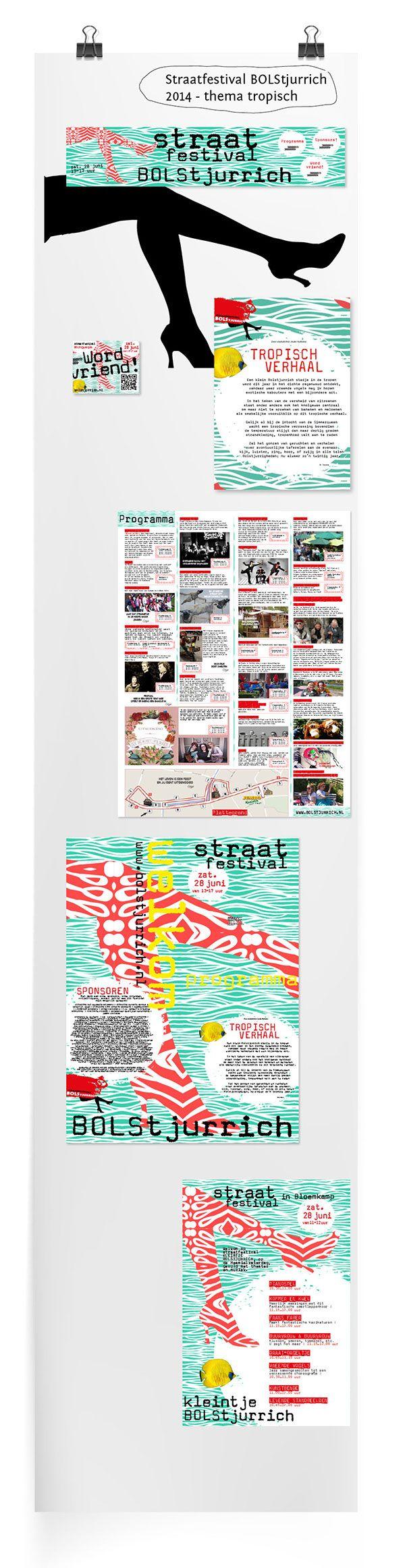 Ontwerp 2014 Straatfestival BOLStjurrich on Behance