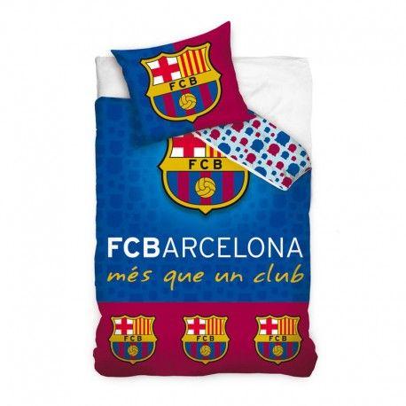 Funda nórdica FC Barcelona. Composición: 100% algodón. Tamaño funda nórdica: 160x200cm. Tamaño funda cojín: 70x80cm. #Merchandising de fútbol barato. 31,04 €.