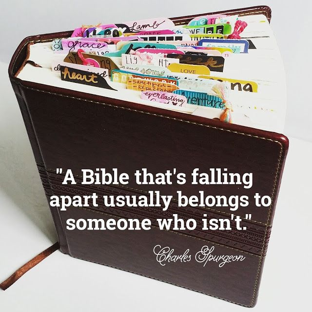 A Bible that's falling apart usually belongs to someone who isn't Bible Journaling