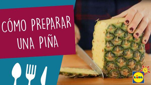 Aprende a cortar de una forma fácil una piña con este vídeo que te proponemos. Toma nota cuando veas este truco de cocina.