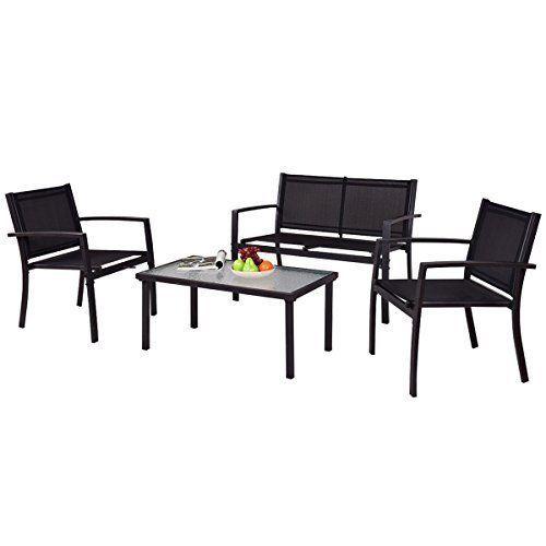 Garden Patio Set Sofa Furniture for Outdoor Pool Back Yard Chairs Table Steel  #GardenPatioSetSofaFurniture