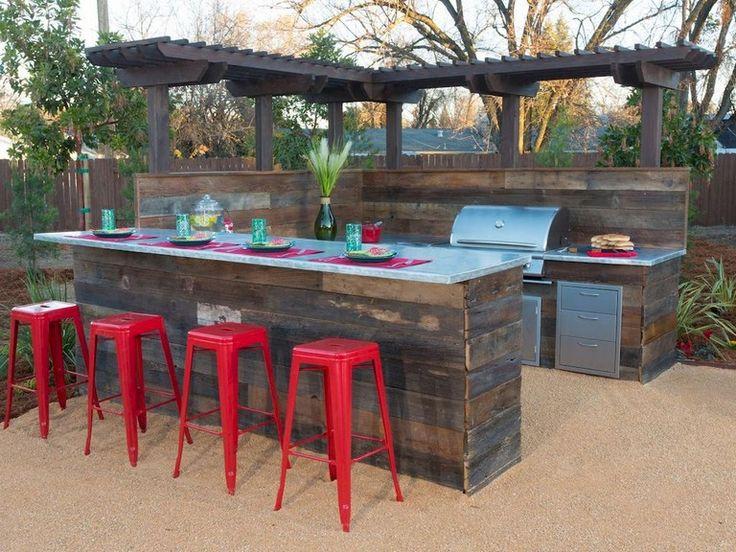 25+ Amazing Modern Outdoor-Küche und Grillstation im Garten