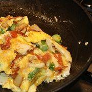 Vegetarische omelet gevuld met aardappelen en rode peper - Tapas Recepten