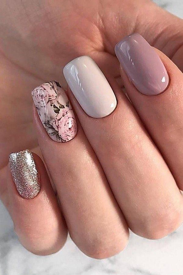 80 Wedding Natural Gel Nails Design Ideas For Bride In 2019 Styles Art Bridal Nail Art Nail Art Wedding Best Nail Art Designs