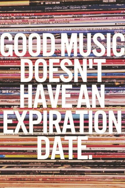 Music quote. Records. Vinyl. Photography by Liv.