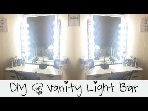 DIY || Vanity Light Bar || Convert Hard Wire to Plug In  || Do It Yourself - YouTube