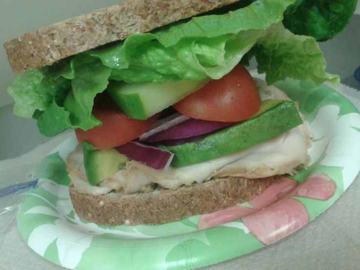 How amazing does this sandwich look?!  It's from the T25 meal plan; Ezekiel brand.