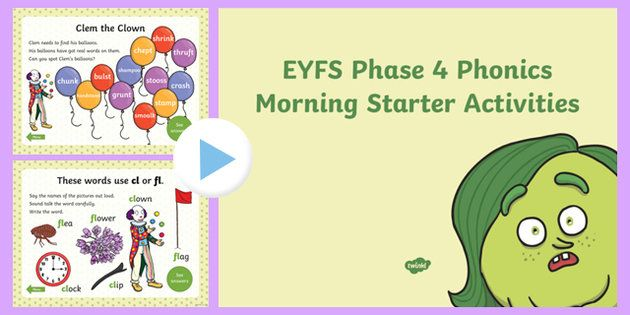 * NEW * Phase 4 Phonics Morning Starter Activities PowerPoint