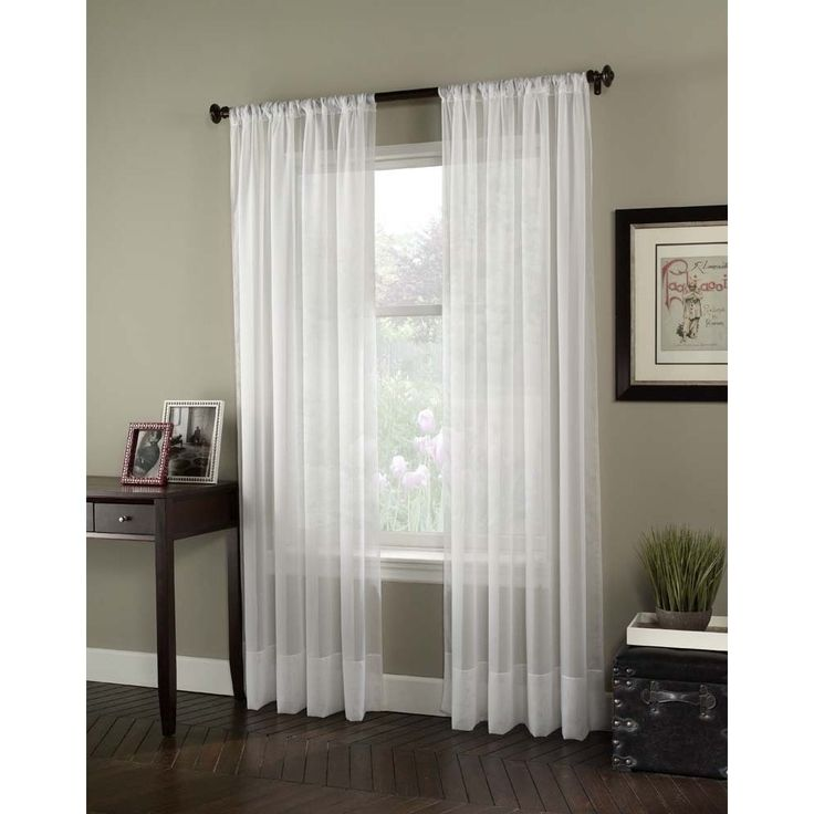 "Soho Voile Lightweight Sheer Curtain Panel 132"" in Winter"