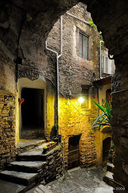 """Luce di Dolceacqua, Liguria - Italy """"In the back of the house flew open a door..."""" The beginning ideas of a poem?"""