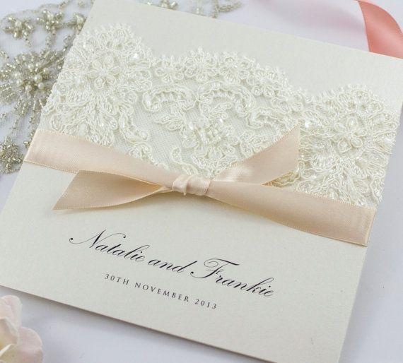 Hochzeitseinladung Spitze Von TheBoutiquePaperCo Auf Etsy