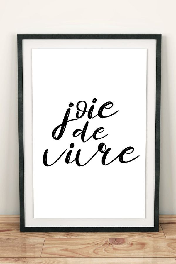 joie de vivre french wall art french words wall decor digital art
