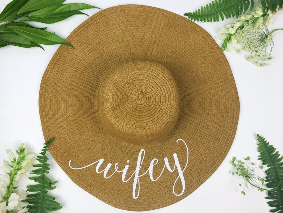 floppy sun hat - sequin sun hat - bride hat - wifey hat - custom floppy hat
