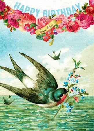 Cartolina - Cartolina card - Happy Birthday Time Flies CC257