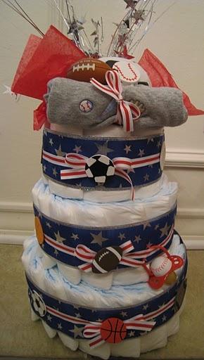 Diaper cake idea for Ami's shower