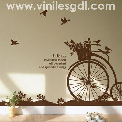 vinile decorativo bicicleta