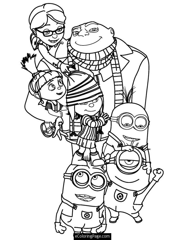 coloring pages minions angen - photo#7