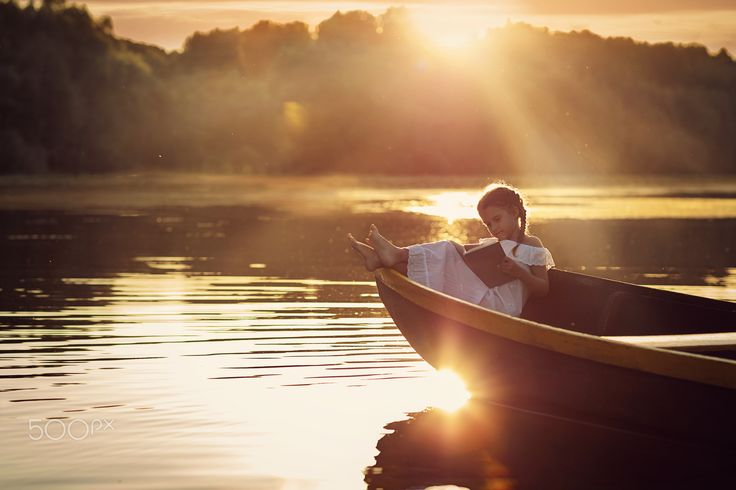 """My """"quiet"""" time.... - Carefree summer break memories.......relaxing on a river, in a boat, with a book...............time almost stands still."""