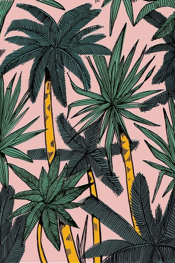 Palm print. Classic California style