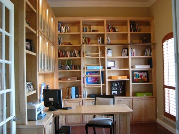library home office e1286294288886 10 Tips to Create a Relaxing Home Library