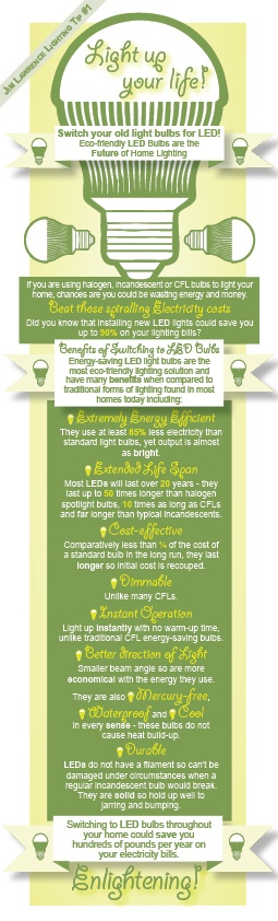 Lighting Tips from Jim Lawrence #Infographic