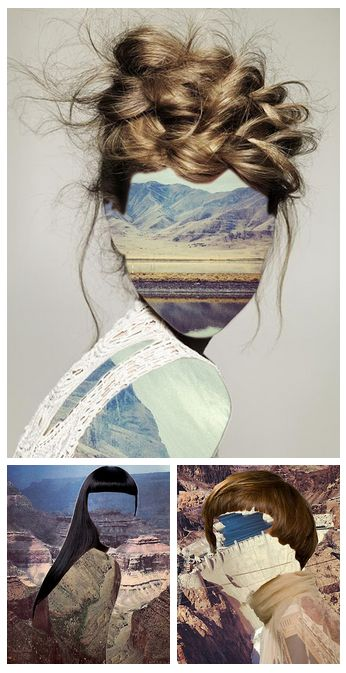 Inspiration. Photo-montage by Erin Chase. I purely loved how these three images…