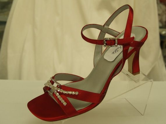 Red Wedding Shoes high heels open toes by NewBrideCo on Etsy, $139.00